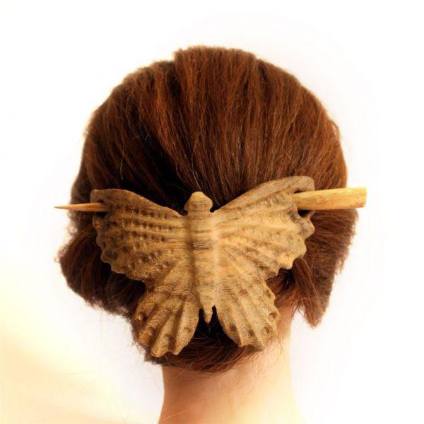 گیره مو طرح پروانه